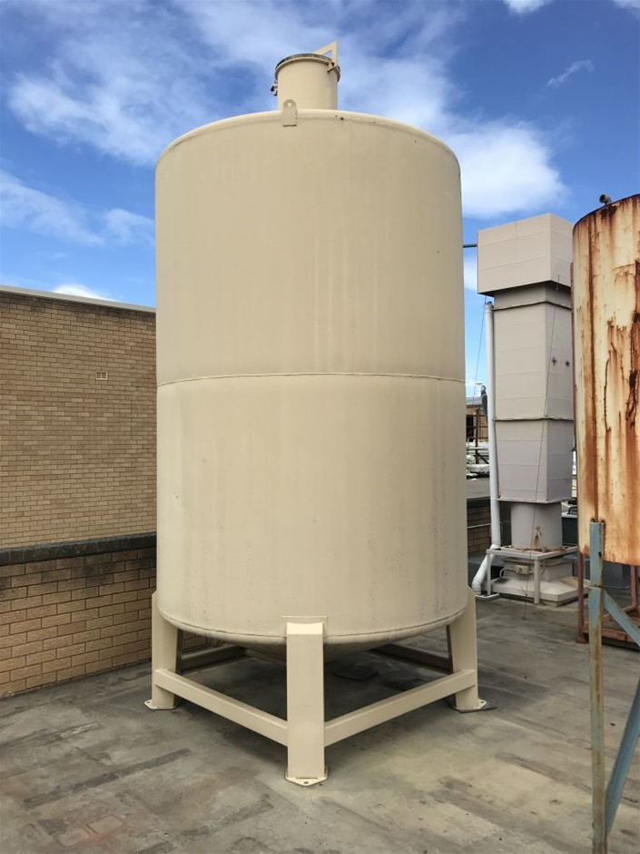 Mounted Stainless Steel Tank - Approx. 10,000 Litre Capacity