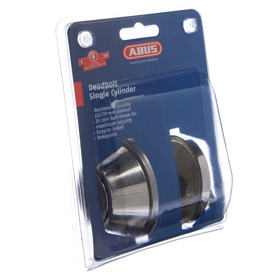 (2 Pack) ABUS DEADBOLT AB331 PSS SINGLE CYL DP - AB331DP