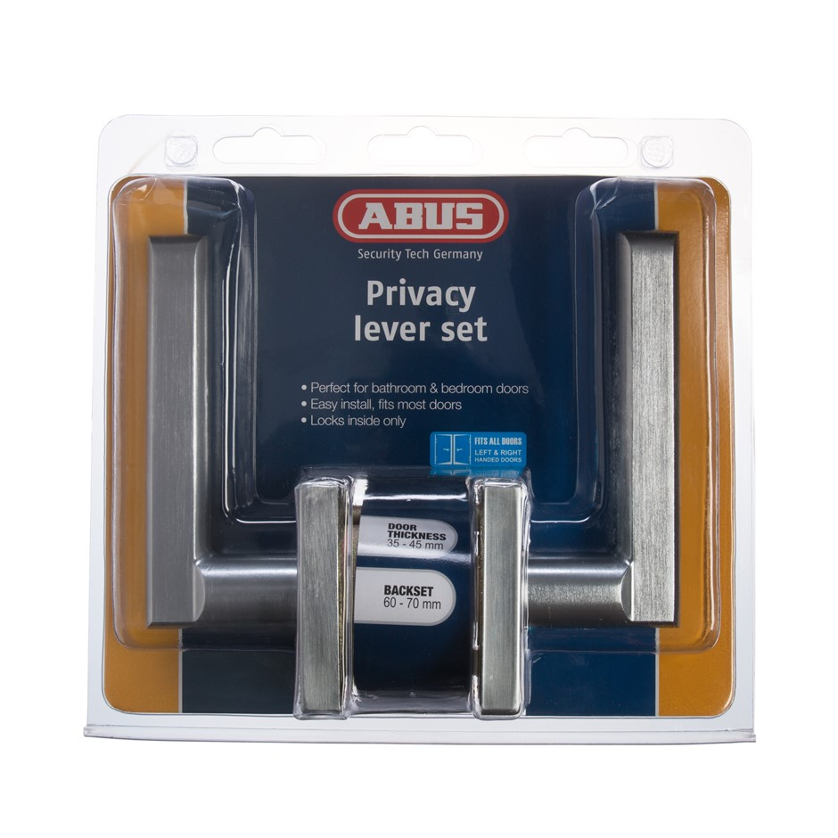 (2 Pack) ABUS PRIVACY LEVER AN SC DP (SQUARE ROSE) - ABLR543DP