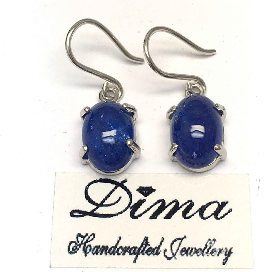 18ct White Gold, 11.42ct Tanzanite Earring