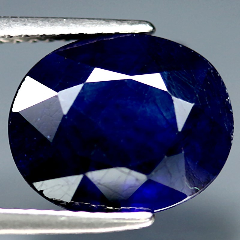 5.16ct. Genuine Oval facet Midnight Blue Sapphire