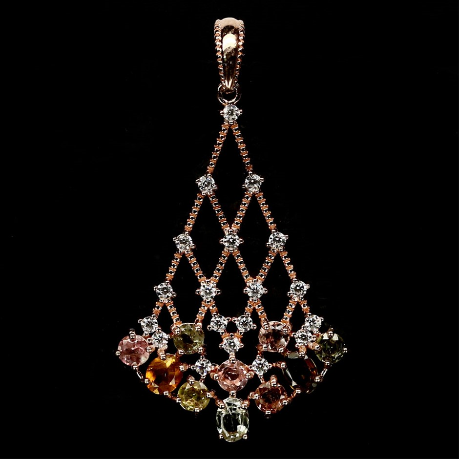 Beautiful Genuine Tourmaline Pendant.