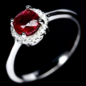 Delightful Genuine Ruby Solitaire Ring