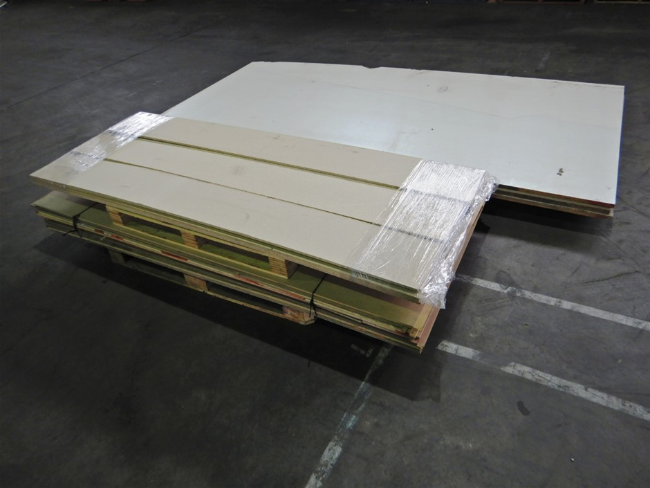 Qty of 3 Pallets of Assorted particle boards (Pooraka, SA)
