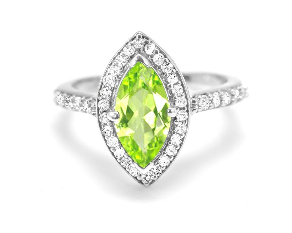 Beautiful Genuine Peridot Ring.
