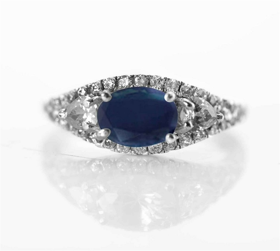 Gorgeous Genuine Midnight Blue Sapphire Ring