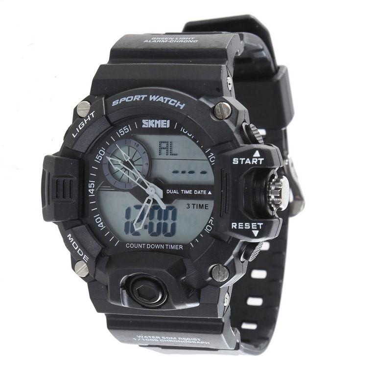 SKMEI Men`s Multi-Function Sport Wrist Watch c/ PU Band, 49mm Dial Width, W