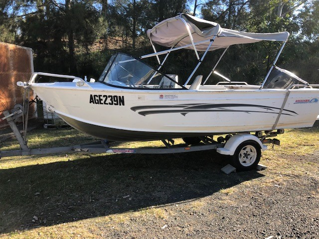 Boat and Trailer Combination