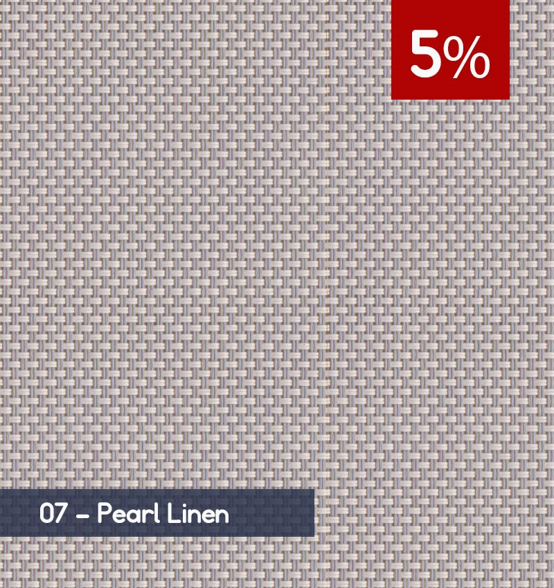 Premium 3m x 30m Roll of Blind - Pearl Linen (5% OPENNESS)