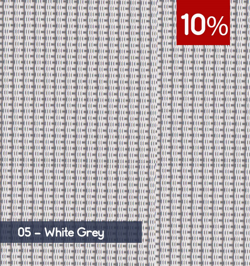 Premium 3m x 30m Roll of Blind - White Grey (10% OPENNESS)