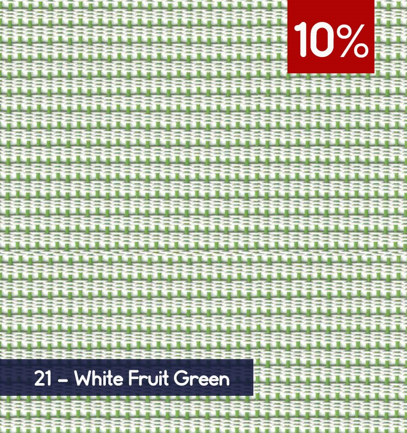Premium 3m x 30m Roll of Blind - White Fruit Green (10% OPENNESS)