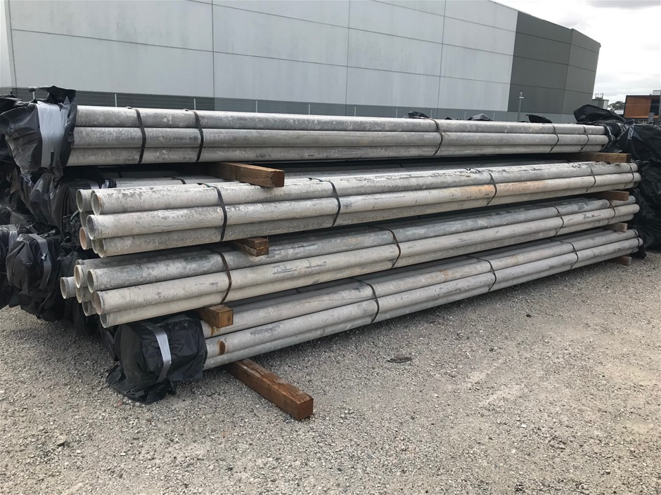 Bundle of 10 x 6500mm x 100mm Galvanised Shouldered End Pipe Sectio