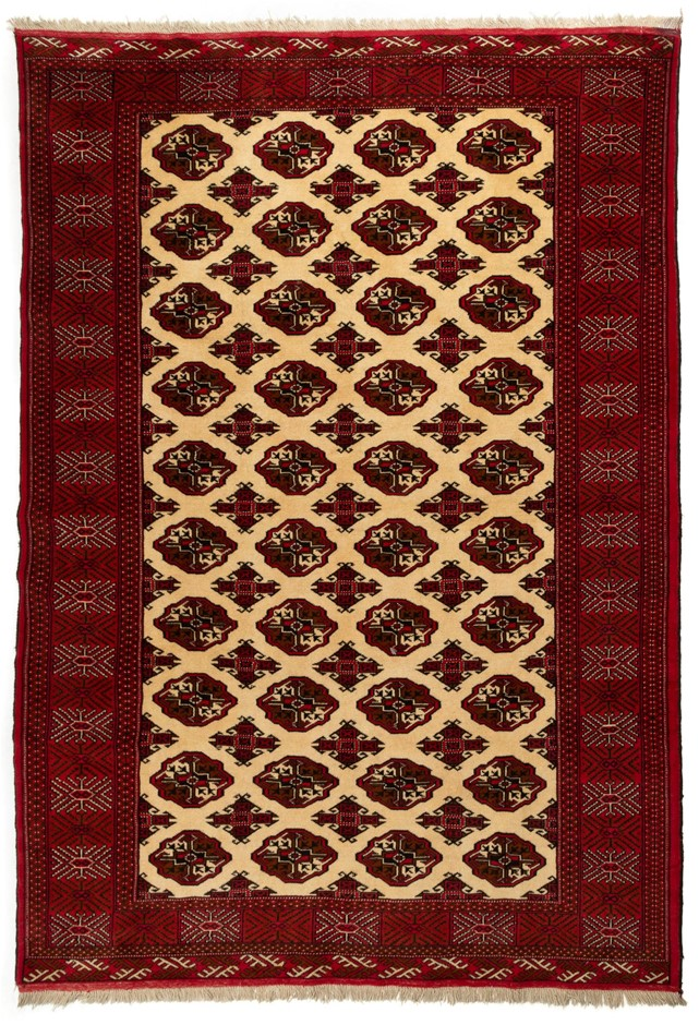 Persian Torkoman Hand Knotted Wool Pile Rug Size (cm): 200 x 280