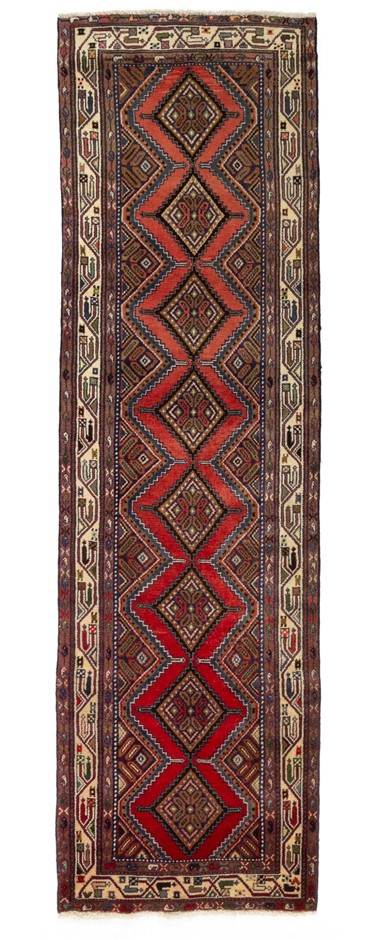 Persian Ardabil Hand Knotted 100% Wool Pile Rug Size (cm): 80 x 280