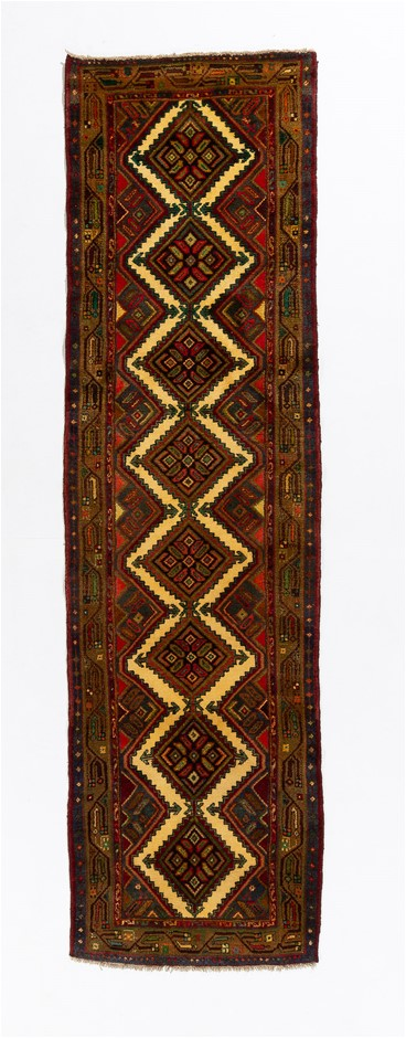 Persian Hamadan Hand Knotted Wool Pile Rug Size (cm): 80 x 288