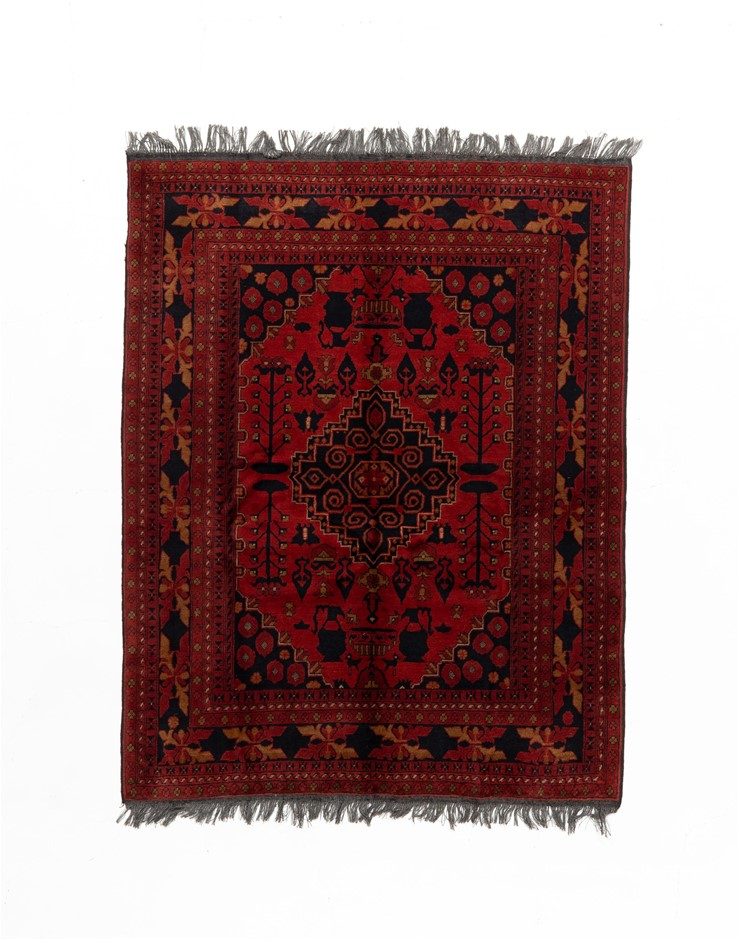 Afghan Khal Mohomadi Hand Knotted Rug Size (cm): 152 x 194