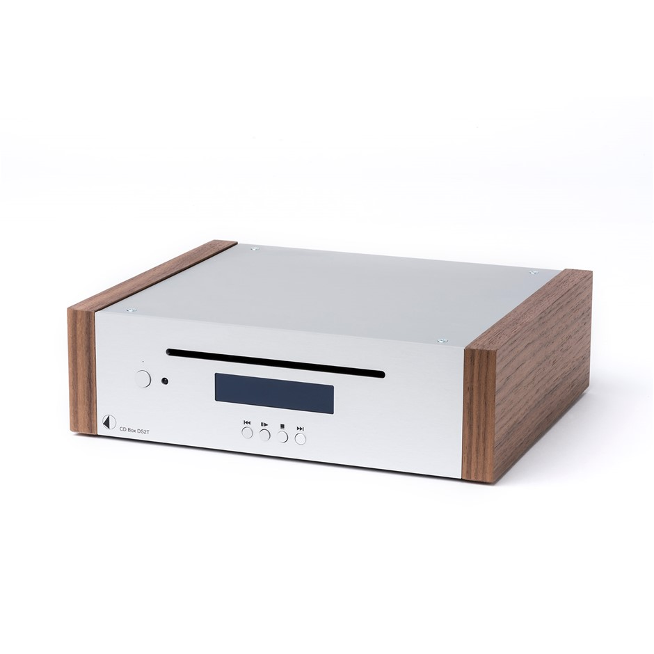Pro-Ject CD Box DS2 High-End Audio CD Player and DAC Silver/Walnut