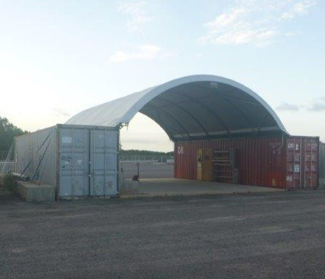2x Containers, 40 Foot, Standard Height with DOME (B-Type)
