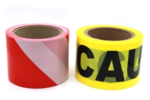 2 x Barrier Tape Black/Yellow Caution &