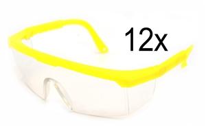 12 x Full Frame Protective Eyewear - Saf