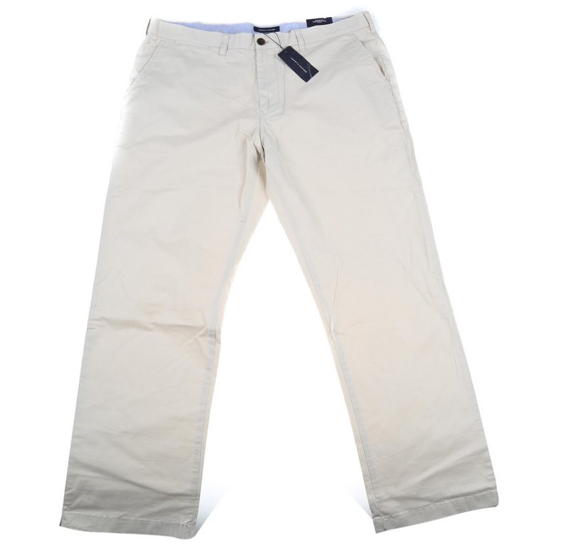 TOMMY HILFIGER THEFLEX Men`s Cotton Chino Pants, Size 38 x 32, Taupe. Buyer