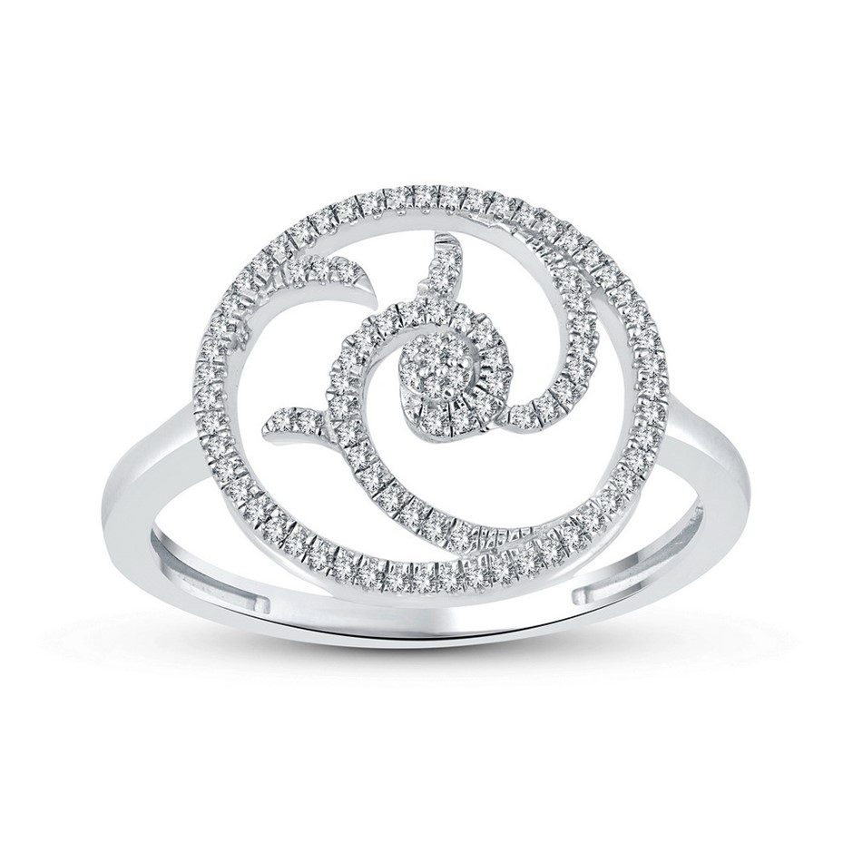 9ct white Gold, 0.14ct Diamond Ring