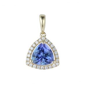 9ct Yellow Gold, 1.28ct Tanzanite and Di