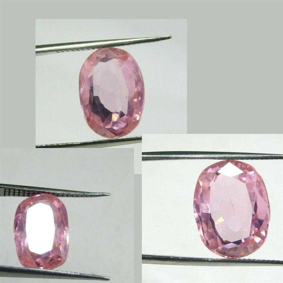29.15ct (3) Mixed Cut Synthetic KUNZITE Gemstones