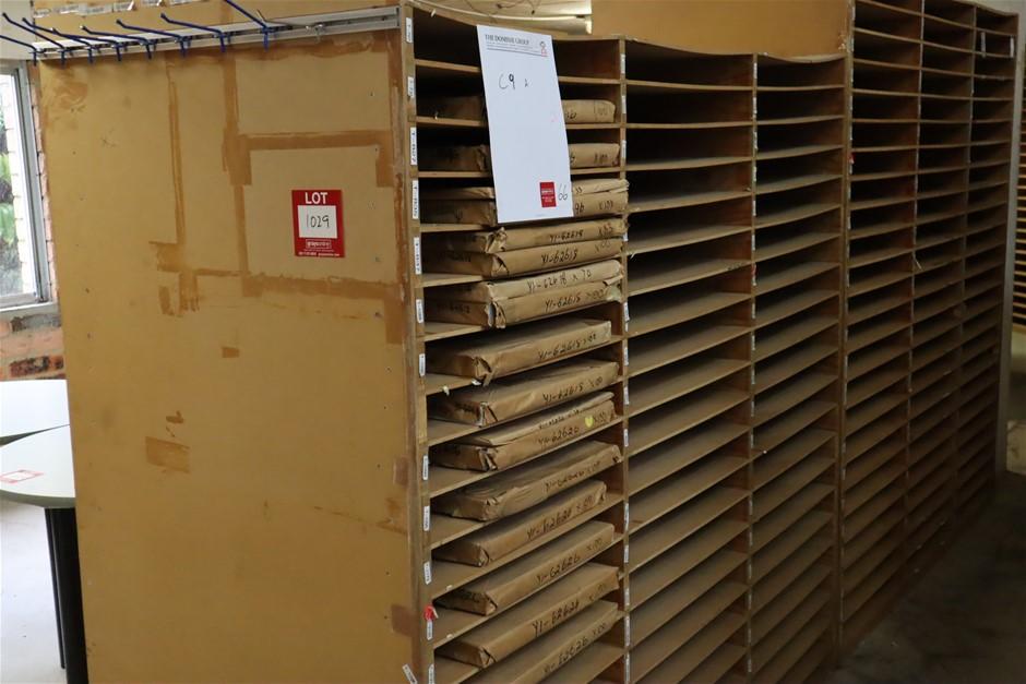9 x Timber Poster/Chart Storage Racks