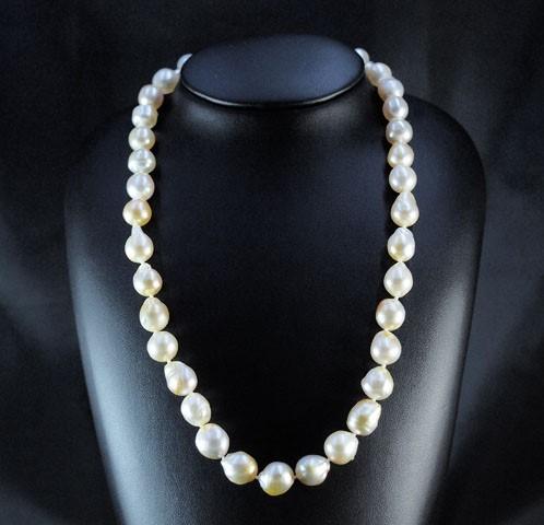 Single Strand Graduated South Sea Pearl Graduated Necklace