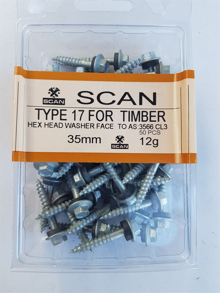 2 X Pack Hex screws for timber with sealing washer