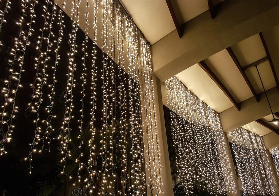 250 LED solar String lights white