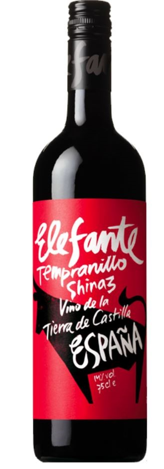 Elefante Tempranillo Shiraz 2018 (12 x 750mL), Spain.