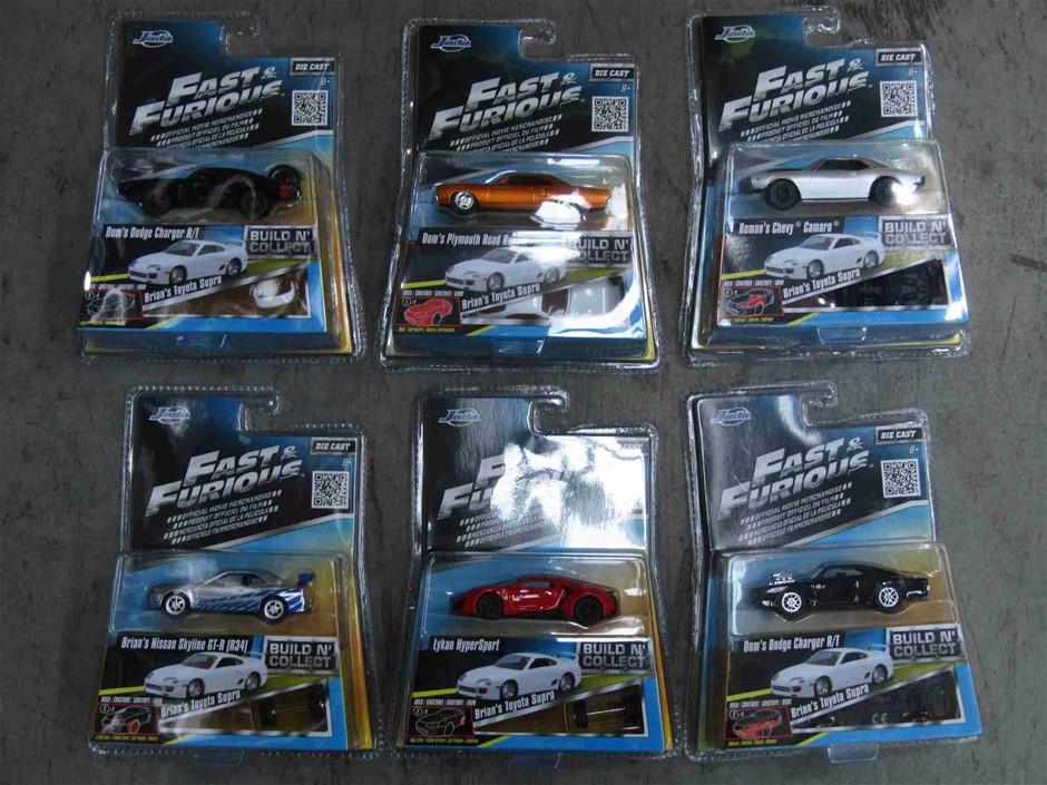 Jada Box of 6x Fast & Furious Cars