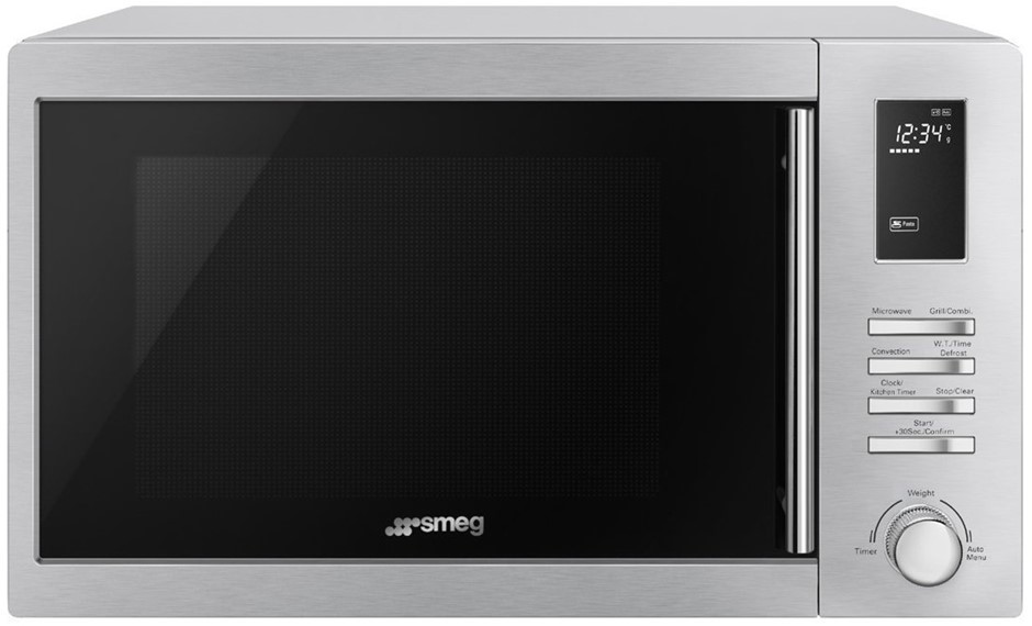 Smeg 34L Inverter Microwave with Grill 1000W - Model SAM34XI