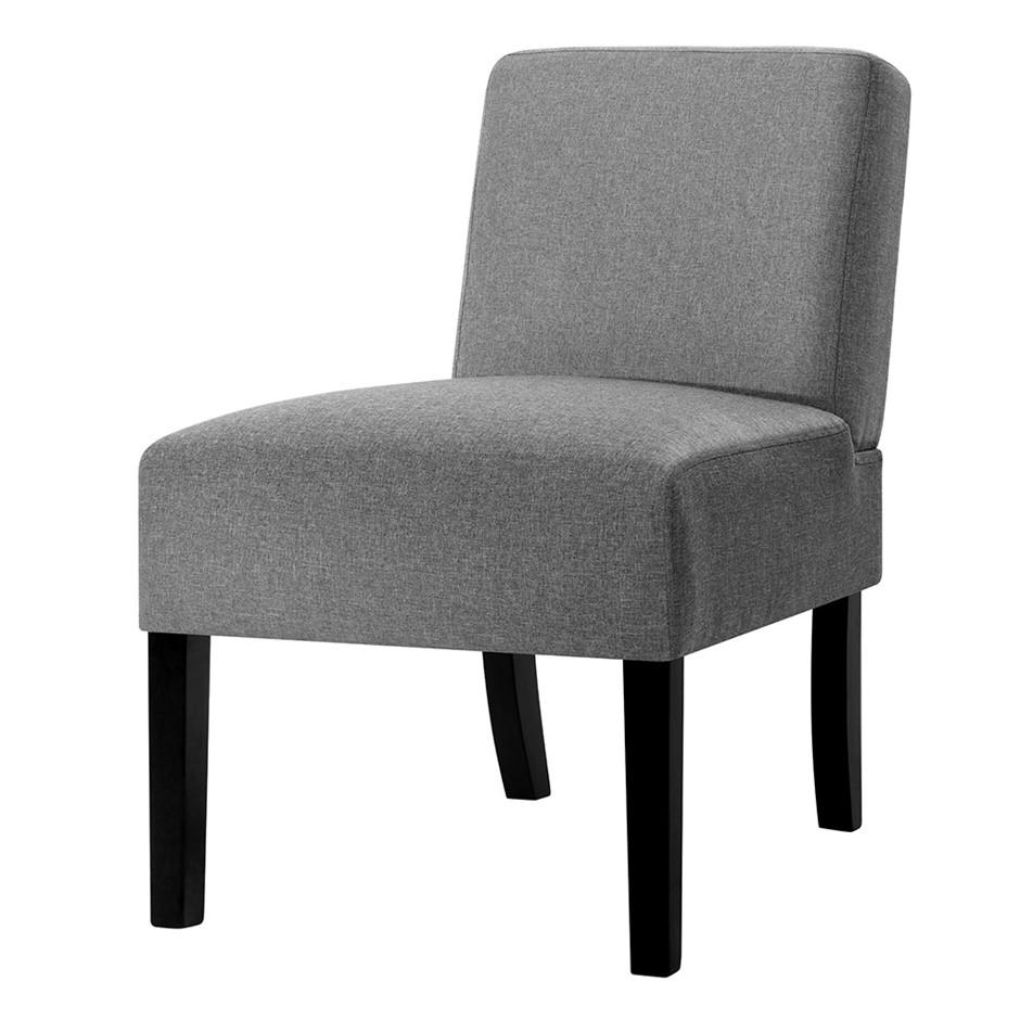 Artiss French Armchair Accent Tub Chair Modern Singe Sofa Seat Wood Grey