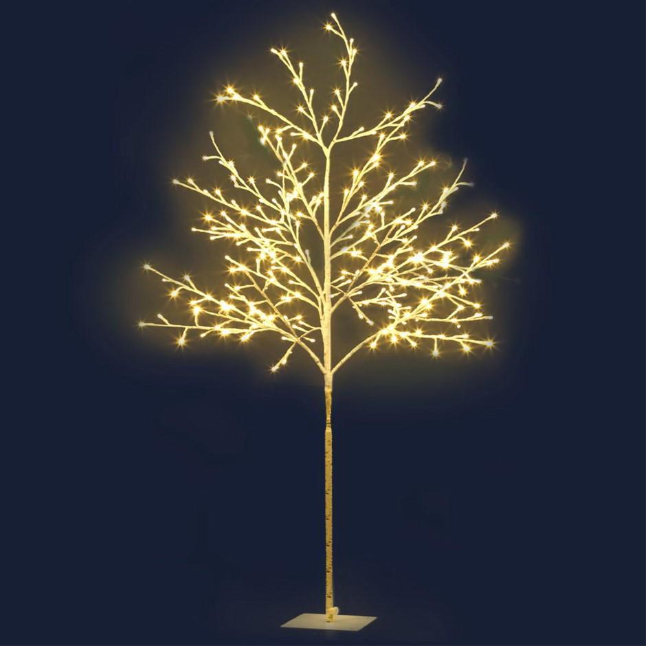 Jingle Jollys 1.5M LED Christmas Branch Tree 304 LED Xmas Warm White Optic