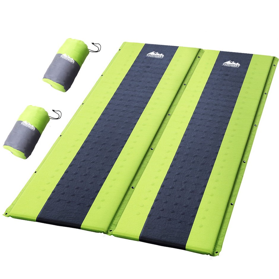 Weisshorn Self Inflating Mattress Sleeping Mat Air Bed Pad Double Green