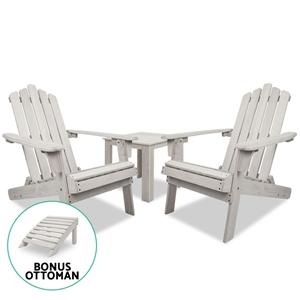 Gardeon Outdoor Setting Beach Chairs Tab