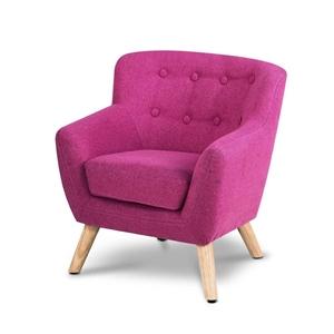 Artiss Kids Fabric Accent Armchair - Pin