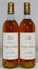Chateau Rayne Vigneau Sauternes 1979 (2x