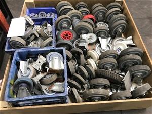 Bulk Lot of Approx 200 Castor Wheels Loc
