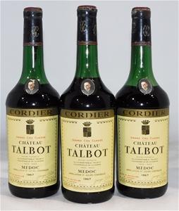Chateau Talbot St Julien 1967 (3x 750ml)