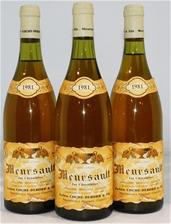 Julien Coche-Debord & Fils `Les Chevalieres` Meursault 1981 (3x 750ml)