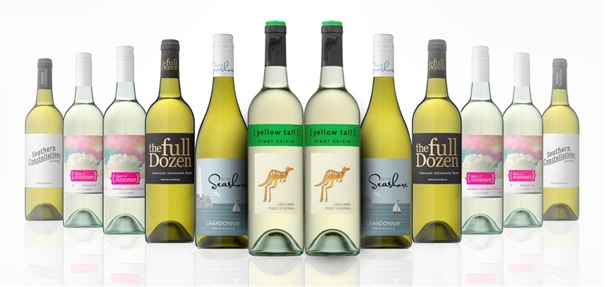 Australian Mixed White Wine Carton Featuring Yellowtail Sauvignon Blanc