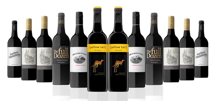 Australian Red Mixed Carton Featuring Yellowtail Shiraz