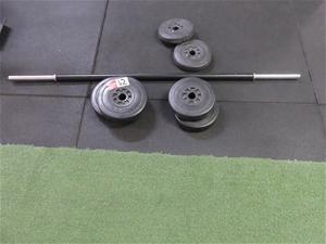 Qty 1 Set x Weights with Bar Set