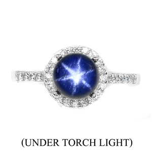 Striking Genuine 6 Ray Star Sapphire Sol