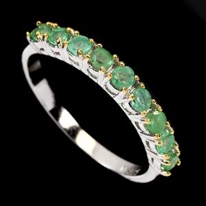 Beautiful Genuine Emerald Eternity Ring