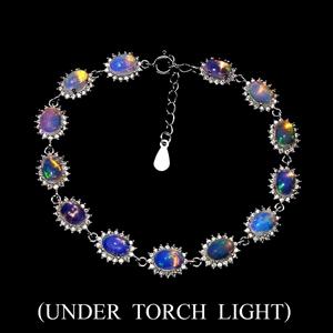 Striking Genuine Rainbow Full Flash Opal